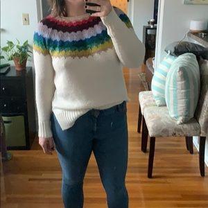 Rainbow Knit American Eagle Sweater - L